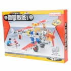 XW XW128876 Kid's DIY Alloy Fighter Warcraft Model - Red + Silver + Multicolored