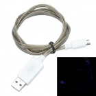 TLG-021 USB 2.0 de V8 de alta velocidad por cable Intelligent Light - gris + blanco (los 95cm)