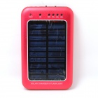 Solar Powered 2000mAh External Battery Charger Power Source Bank - Red