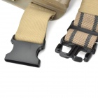 1011 Tactic Pierna Mounted Holder Nylon + Plastic para 1911 Gun - Negro + Brown