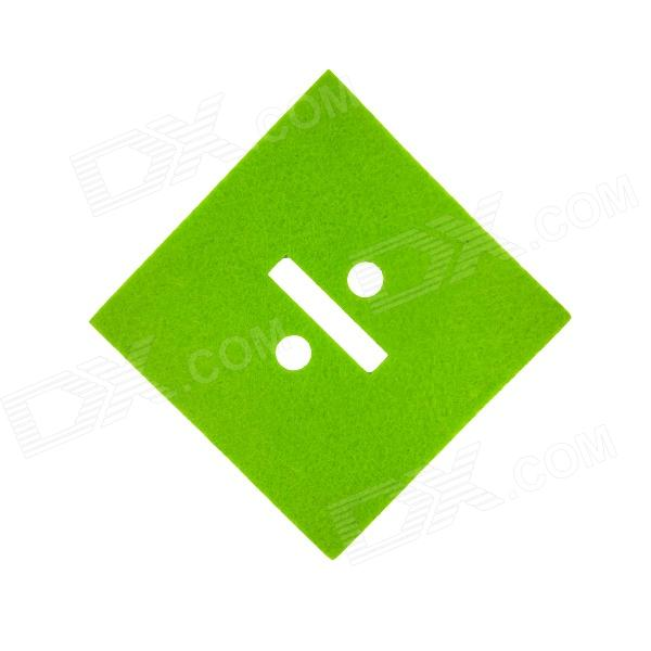 Square Shaped Absorbent Anti-slip Heat Sign Of Division Insulation Mat Pad for Dishware Cup - Green