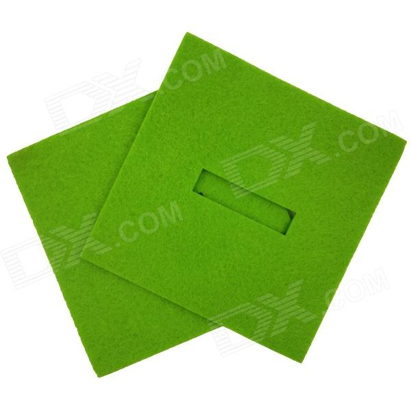 Square Shaped Absorbent Anti-slip Heat Minus Insulation Mat / Pad for Dishware / Cup - Green защитная пленка liberty project защитная пленка lp для lenovo vibe x s960 прозрачная