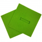 Square Shaped Absorbent Anti-slip Heat Minus Insulation Mat / Pad for Dishware / Cup - Green