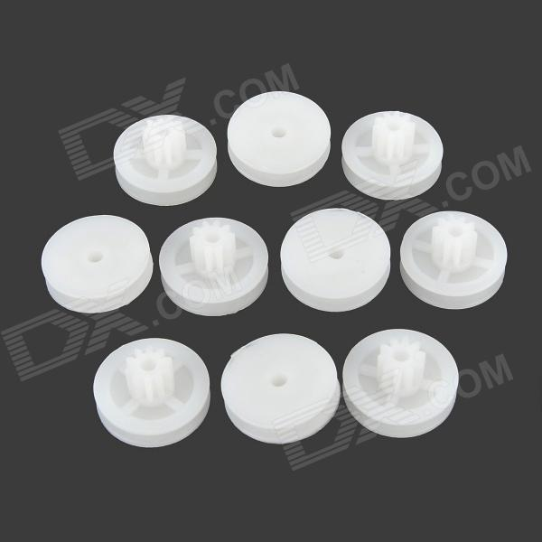 CT-102B DIY Plastic Wheel Gear for R/C Car / Helicopter - White (10 PCS) e cap aluminum 16v 22 2200uf electrolytic capacitors pack for diy project white 9 x 10 pcs