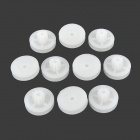 CT-102B DIY Plastic Wheel Gear for R/C Car / Helicopter - White (10 PCS)