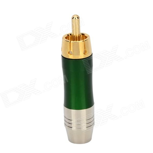 WLXY WL-3102 RCA Male Plug Audio / Video Adapter Connectors 6 35mm male plug audio connector silver golden 10pcs