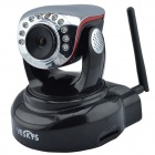 VESKYS V25W 720P 1.0 MP HD Wireless PTZ IP Network Camera w/ Wi-Fi / SD Slot / Mic - Black