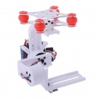 HJ 2-Axis Camera Brushless Gimbal PTZ w/ BGC3.1 2-Axis Gimbal Controller for Gopro 1/2/3 FPV - White