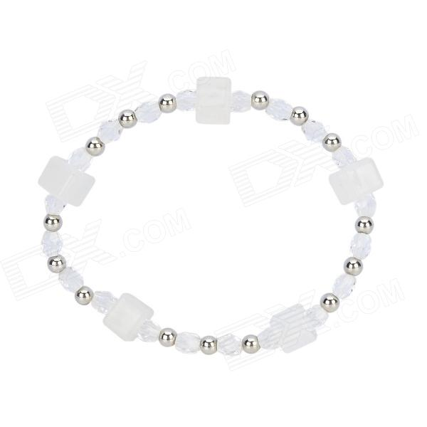 Stylish Changing Color UV Detector Bracelet - White