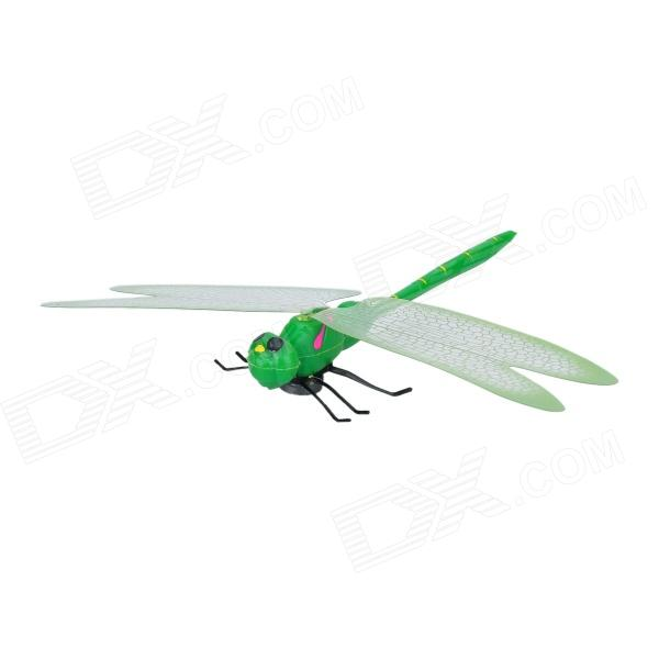 Fun Lifelike Dragonfly Style Plastic Magnetic Sticker for Refrigerator - Green