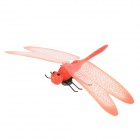 Fun Lifelike Dragonfly Style Plastic Magnetic Sticker for Refrigerator - Red