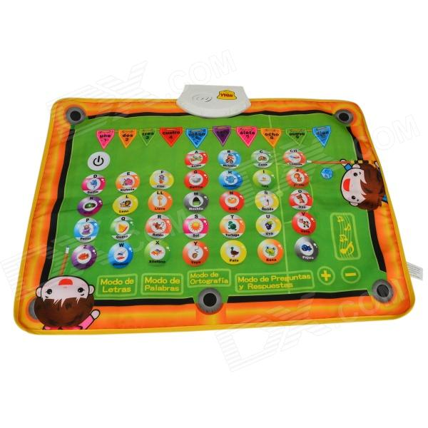 YIQU YQ2910 Kid's Spanish Language Letter Game Play Music Mat - Orange + Green (3 x AA)