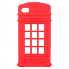 HELLO DEERE Phone Booth Style Protective Silicone Case for IPHONE 4G 4S - Red