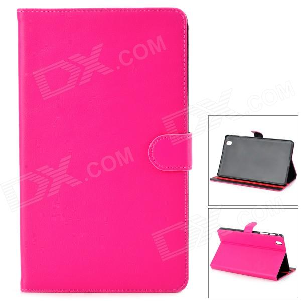 Protective PU Leather Flip-Open Case w/ Stand for Samsung Galaxy Tab Pro T320 - Deep Pink protective pu leather flip open case w stand for samsung note 3 n9000 deep pink light green