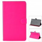 Protective PU Leather Flip-Open Case w/ Stand for Samsung Galaxy Tab Pro T320 - Deep Pink