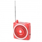"Portable 25W 1.6"" LCD Waist Hanging Loudspeaker w/ TF / USB / 3.5mm / FM - Red"