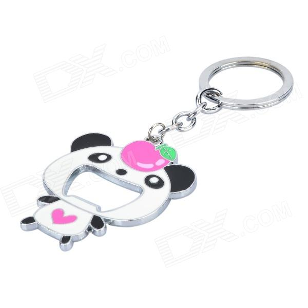 cute panda style bottle opener pendant key chain white deep pink free shipping dealextreme. Black Bedroom Furniture Sets. Home Design Ideas