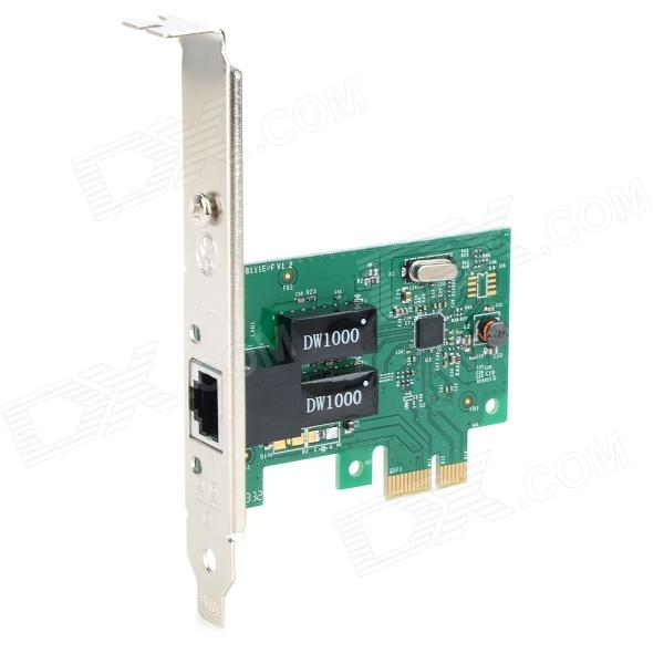 DIEWU 1000Mbps PCI-E RTL8111E Network Card Adapter - Green + Multicolored
