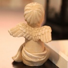 Creative Angel Style Ceramic Candlestick - White