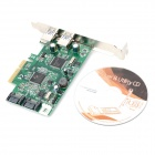 PCI-E 2-kjørefelt USB 3.0 + SATA PCI-Express-kort - Green + Black
