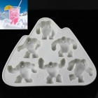 Monster Wendigo Style Snowman Ice Lattice Ice Cubes Mold - White