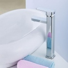 Stylish Modern Stage Washbasin Faucet - Silver