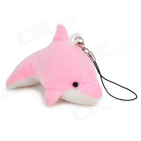 Cute Dolphin Style Mobile Phone / Wallet / Bag Decoration - Pink + White
