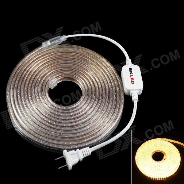 SKLED Water Resistant 24W 1100lm 3500K 600-SMD 3014 LED Liquid-filled light Strip (AC 220V / 500CM)