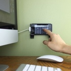 111-V Plastic Wall Mount for Mobile Phone + Tablet PC - Black