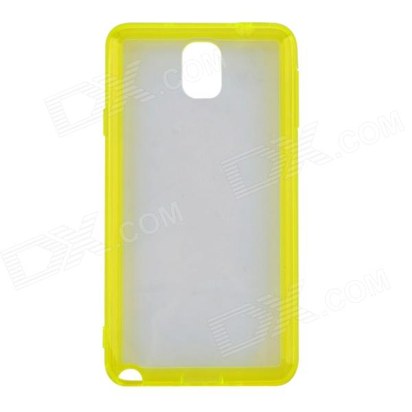 Protective TPU + Plastic Back Case for Samsung Note 3 - Yellow + Transparent protective plastic case for motorola razr xt910 yellow