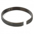 RUINUO 1LS615Q Stylish 316L Stainless Steel Bracelet for Men - Black