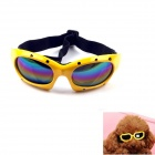 Headband Adjustable Pet Dog Outdoor Eye Protection Goggles Glasses - Yellow