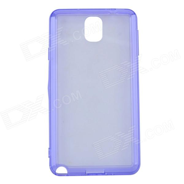 Protective TPU + Plastic Back Case for Samsung Note 3 - Blue Purple + Translucent White protective silicone case for nds lite translucent white