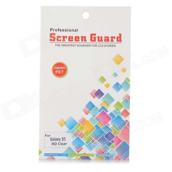 Protección Claro PET Screen Guard Film para Samsung Galaxy S5 - Transparente
