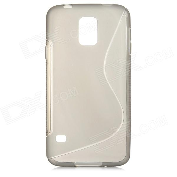 Simple Plain S Pattern PVC Back Case for Samsung Galaxy S5 - Translucent Grey stylish simple plain abs back case for samsung galaxy s5 white translucent white