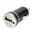 Car Charger Adapter + Micro USB Data Charging Flat Cable - Black + White