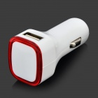 Universal Dual USB Car Cigarette Lighter Charge - White + Red (12~24V)