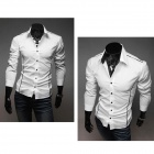 5902001399 Men's Stylish Custom Fitting Cotton Blended Shirt - White (L)
