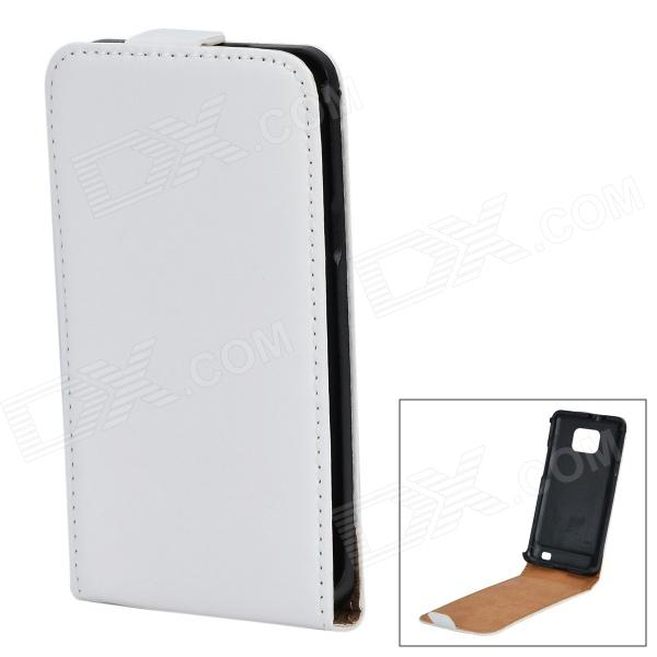 Protective Top Flip Open Case for Samsung S2 i9100 - White
