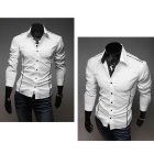 5902001399 Men's Stylish Custom Fitting Cotton Blended Shirt - White (XL)