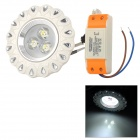 XIANQIN 3W 270lm 6000K 3-LED White Light Ceiling Lamp - White + Silver (AC 170~260V)