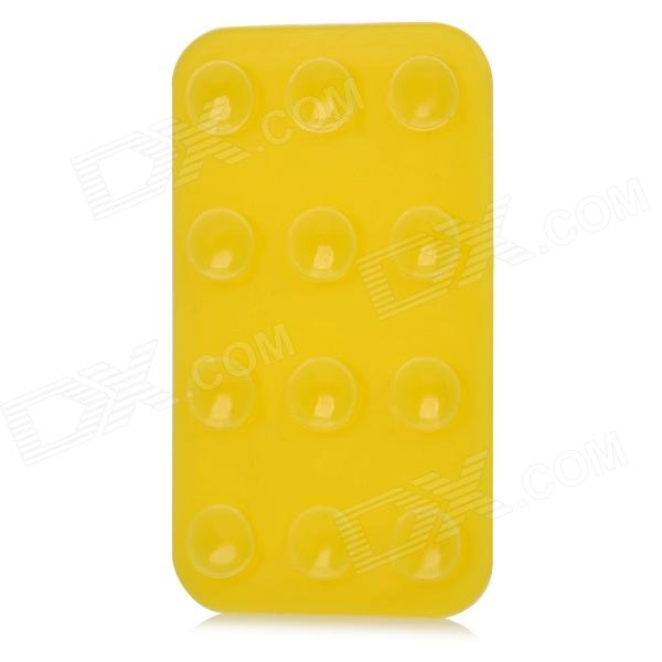 V10 Anti-Slip Double-Sided Suction Cup Pad for Cell Phone - Yellow