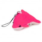 Cute Dolphin Style Mobile Phone / Wallet / Bag Decoration - Deep Pink + White