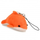Cute Dolphin Style Mobile Phone / Wallet / Bag Decoration Strap - Orange + White