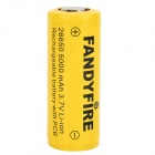 FANDYFIRE 4000mAh 26650 3.7V Li-ion Rechargeable Battery - Yellow