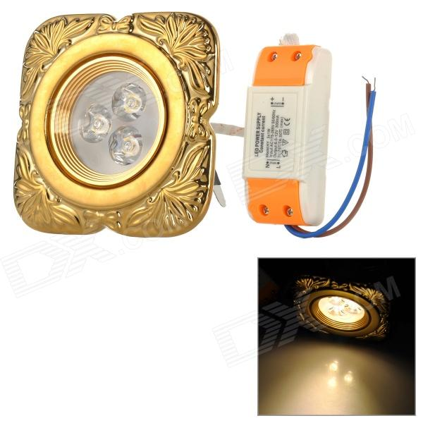XIANQIN X-TC-D-03-035-N 3W 180lm 3000K 3-LED Warm White Light Ceiling Lamp - Gold (AC 170~260V) husqvarna k 3000 cut n break б у