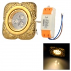 XIANQIN X-TC-D-03-035-N 3W 180lm 3000K 3-LED Warm White Light Ceiling Lamp - Gold (AC 170~260V)