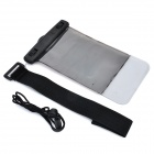 WP-03 IPX8 Waterproof Mobile Phone Protective Bag for Samsung - Translucent Black