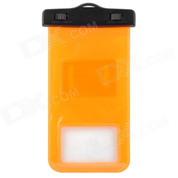 Universal Waterproof Bag Protective Mobile Phone Bag w/ Arm Band / Strap - Orange + Black universal waterproof bag protective mobile phone bag w arm band strap orange black