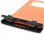 Universal Waterproof Bag Protective Mobile Phone Bag w/ Arm Band / Strap - Orange + Black